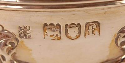Lot 3078 - An Edwardian silver bachelors three-piece tea...