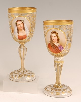 Lot 3046 - A pair of 19th century Bohemian overlaid glass...