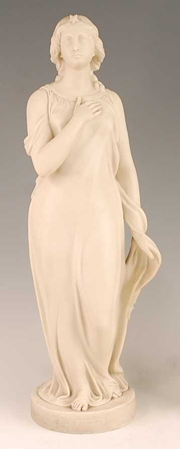 Lot 3031 - A Copeland Parian figure of Beatrice after...