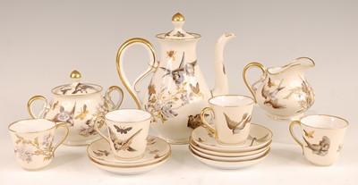 Lot 3037 - A circa 1900 continental porcelain part coffee...