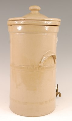 Lot 3028 - A Victorian stoneware water filter for the...