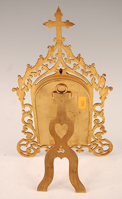Lot 3041 - A 19th century continental cut brass easel...