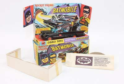 Lot A Corgi Toys 1st issue 267 Batmobile without...