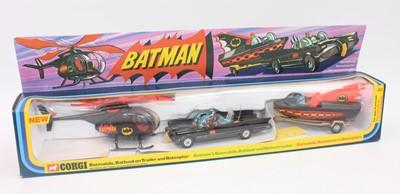 Lot Corgi Batman Gift Set 40, comprising whizz...