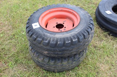 Lot 8 - 1 Pair of Tyres (10/75/15) 6 ply on rims