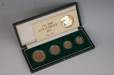Lot Great Britain, Royal Mint UK 1980 Gold Proof...