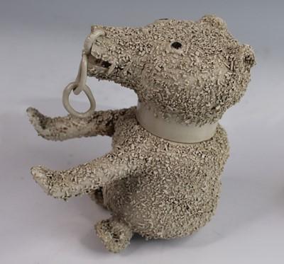 Lot 1013 - A George III salt-glazed white stoneware 'Bear-...