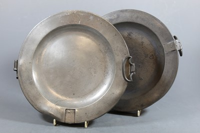 Lot 16 - An early 20th century copper warming dish and...