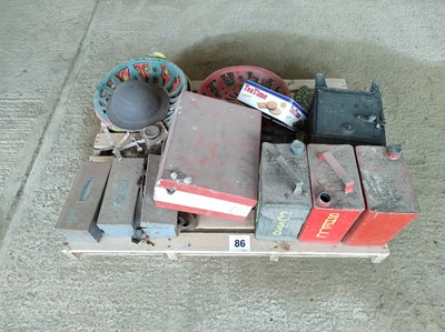 Lot 86 - Sundry Cans & Metal Seats