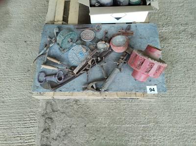 Lot 94 - Qty Metal ID Plates/Parts