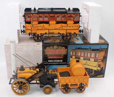 Lot 22 - Hornby 3½ inch Stephensons Rocket loco and...