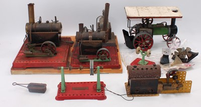 Lot 23 - Various steam items:- Mamod twin cylinder,...