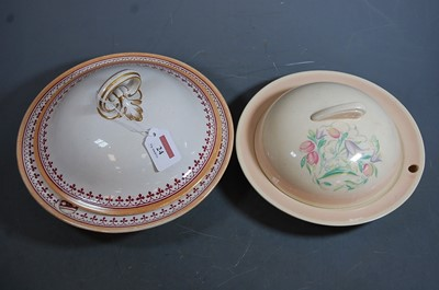 Lot 24 - A Victorian Minton warming dish and cover, on...