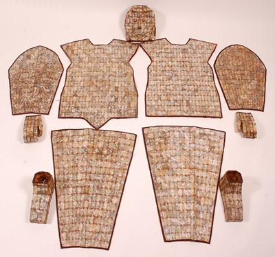 Lot A full sized Chinese burial suit, in eleven...