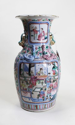 Lot 1 - A late Qing Dynasty famille rose vase, of...