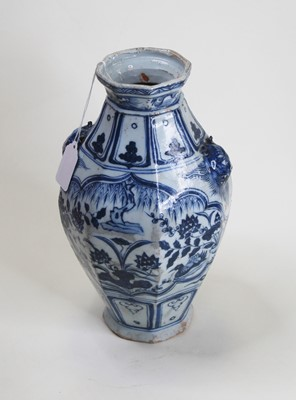 Lot 2 - A Chinese export blue and white vase, of...