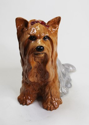 Lot 4 - A Beswick model of a seated Yorkshire terrier,...