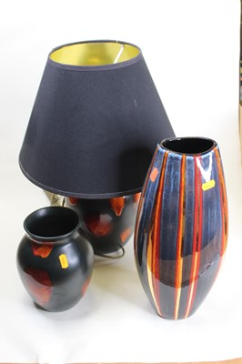 Lot 5 - A Poole Galaxy vase, the everted rim above an...
