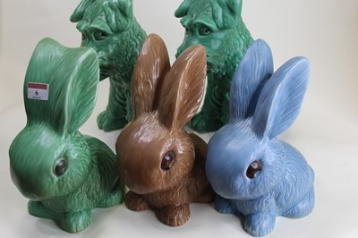 Lot 6 - A Sylvac model of a seated long-eared bunny,...