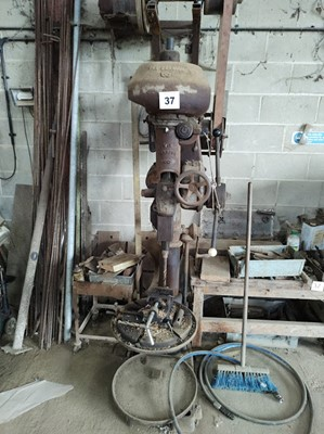 Lot 37 - Pillar Drill & Drill Parts and Bench