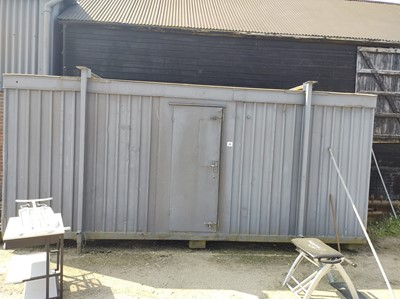 Lot 40 - Metal Shipping Container