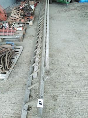 Lot 57 - 2 x Wooden Ladders