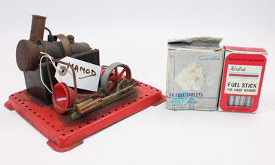 Lot 15 - A Mamod stationary steam plant comprising of...