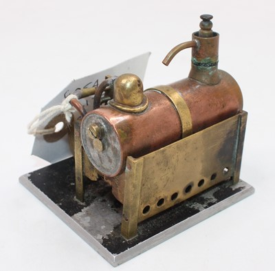 Lot 17 - A miniature brass and copper working model of...