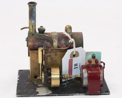 Lot 18 - A scratch built stationary steam plant...
