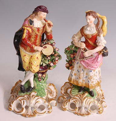 Lot 1021 - A pair of early 19th century probably Derby...