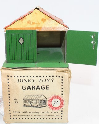 Lot 1010 - A Dinky Toys Pre-War No.45 tinplate Garage...