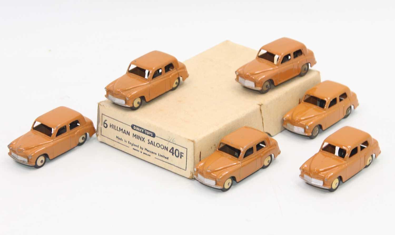 Lot 1044 - Dinky Toys 40f original Trade box of 6 Hillman...