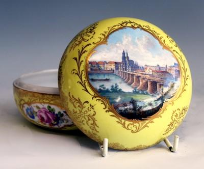 Lot 1019 - A late 19th century Meissen porcelain vanity...