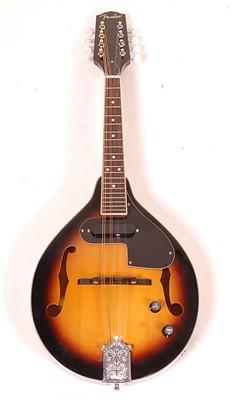 Lot 503 - A Fender FM-52E mandolin, in sunburst finish...