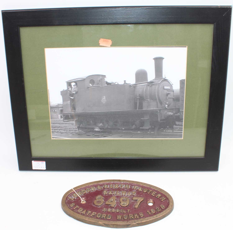 Lot 3 - Original brass London North Eastern Railway...