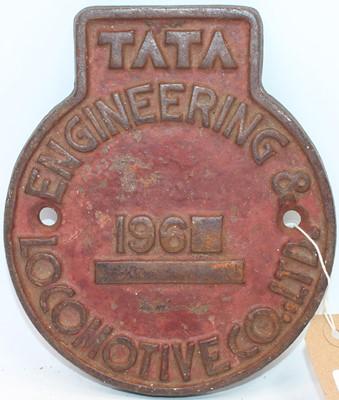 Lot 6 - Original circular cast-iron Indian railways...