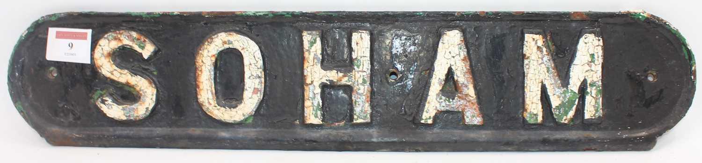 Lot 9 - Original cast-iron railway bench seat back...