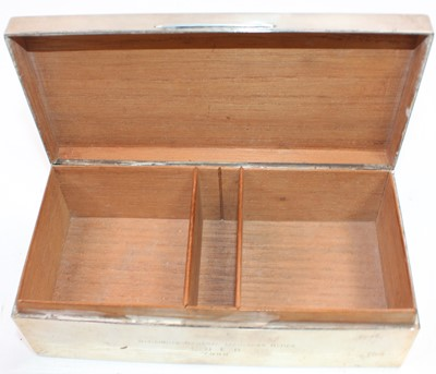 Lot 18 - Solid Silver Rectangular Cigarette Box...