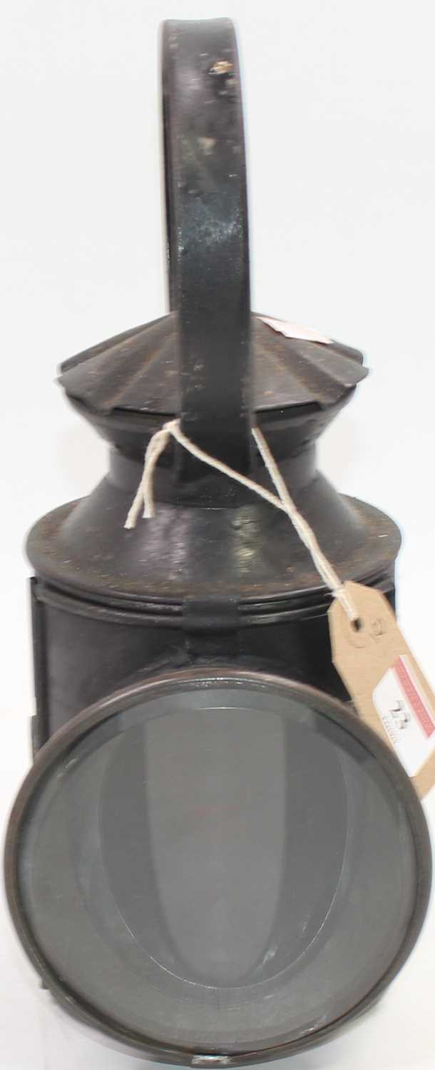 Lot 23 - An early pie crust LNER two-aspect hand lamp...