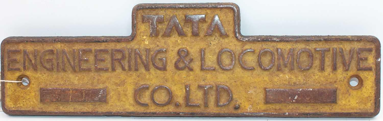 """Lot 26 - An original cast iron Indian Railways """"Tata""""..."""