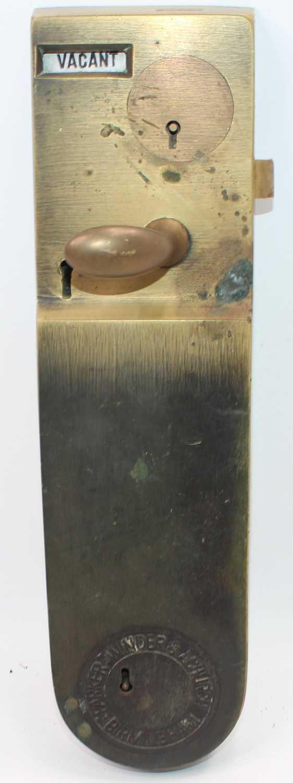 Lot 28 - Parker, Winder and Achurch brass toilet door...