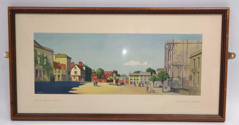 "Lot 32 - An original railway carriage print ""BURY ST..."