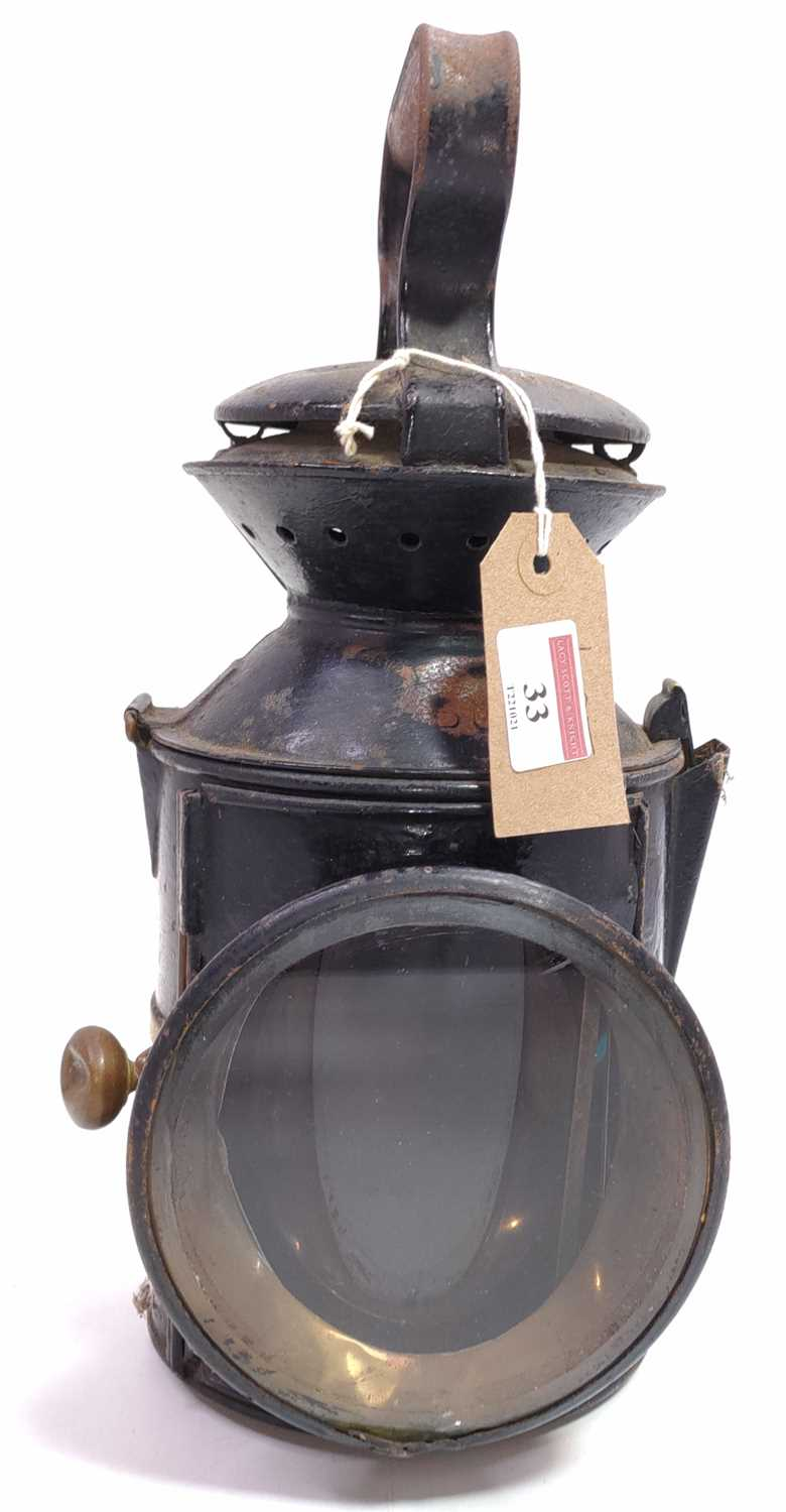 Lot 33 - An LNER GER Style 3 aspect knob lamp, dated...