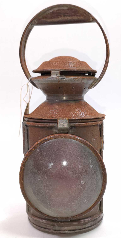 Lot 34 - An original stamped LNE-C 3 aspect hand lamp,...