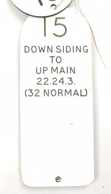 Lot 36 - 4 melamine signal level description plates, ex...