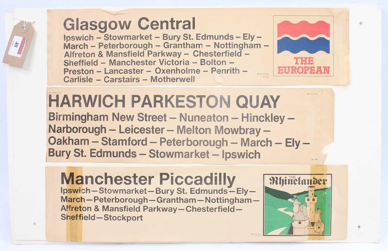 Lot 40 - 3 display cards displayed 8 various British...