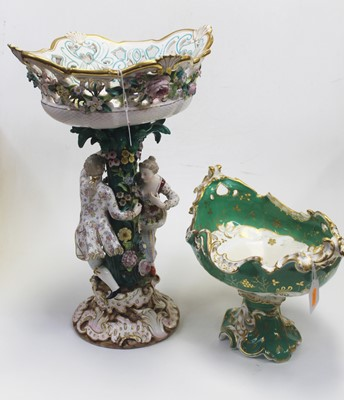 Lot 1 - A late 19th century Dresden table centrepiece...
