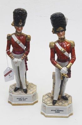 Lot 5 - A pair of Continental porcelain figures of...