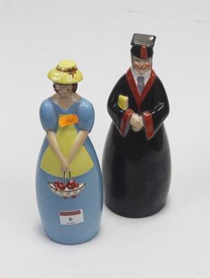 Lot 6 - A Roby of Paris glazed ceramic figural...