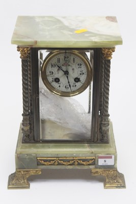 Lot 8 - A 19th century onyx and gilt metal mounted...
